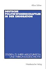 Deutsche Politikwissenschaftler in Der Emigration af Alfons Sollner