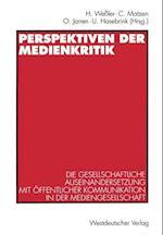 Perspektiven der Medienkritik af Hartmut Wessler