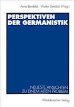 Perspektiven der Germanistik af Anne Bentfeld