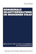 Kommunale Selbstverwaltung Im Modernen Staat af Heinz Zielinski, Heinz Zielinski