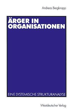 Ärger in Organisationen