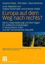 Europa Auf Dem Weg Nach Rechts? af Dirk Baier, Susanne Rippl, Klaus Boehnke
