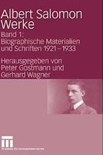 Albert Salomon Werke