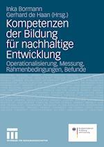Kompetenzen Der Bildung Feur Nachhaltige Entwicklung af Inka Bormann, Germany, Gerhard de Haan