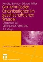 Gemeinnutzige Organisationen Imgesellschaftlichen Wandel af Annette Zimmer, Eckhard Priller