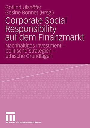 Corporate Social Responsibility Auf Dem Finanzmarkt