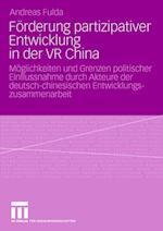 Förderung Partizipativer Entwicklung in Der VR China af Andreas Fulda