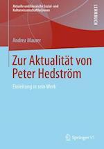 Zur Aktualitat Von Peter Hedstrom af Andrea Maurer