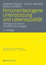 Personenbezogene Unterstutzung Und Lebensqualitat af Elisabeth Wacker, Gudrun Wansing, Markus Sch Fers