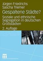 Gespaltene Stadte? af Sascha Triemer, Juergen Friedrichs