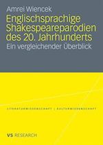 Englischsprachige Shakespeareparodien Des 20. Jahrhunderts af Amrei Wiencek