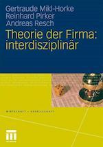 Theorie Der Firma (Wirtschaft Und Gesellschaft)
