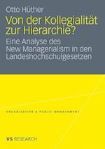 Von Der Kollegialitat Zur Hierarchie? af Otto H. Ther, Otto Huther