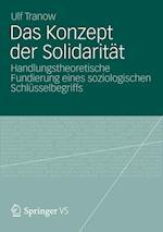 Das Konzept Der Solidaritat af Ulf Tranow