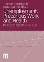 Unemployment, Precarious Work and Health af Thomas Kieselbach