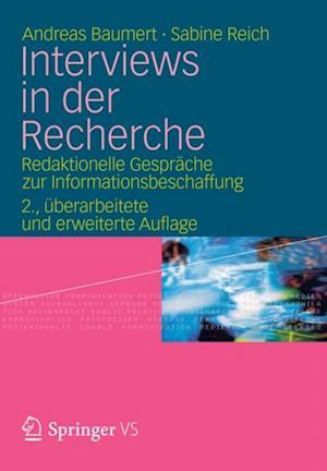Interviews in der Recherche af Andreas Baumert, Sabine Reich