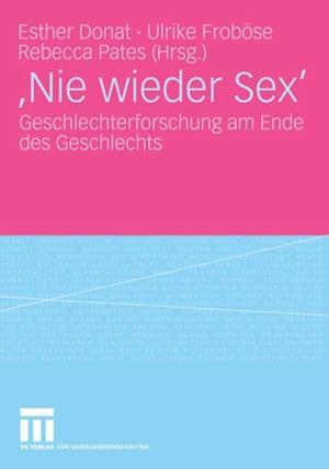 'Nie wieder Sex'