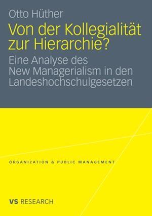 Von der Kollegialitat zur Hierarchie? af Otto Huther