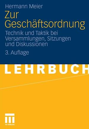 Zur Geschaftsordnung af Hermann Meier