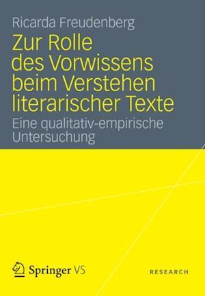 Zur Rolle des Vorwissens beim Verstehen literarischer Texte af Ricarda Freudenberg