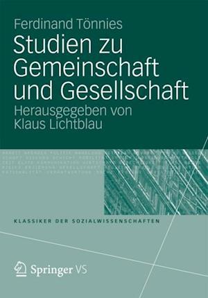 Studien zu Gemeinschaft und Gesellschaft af Ferdinand Tonnies