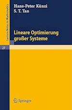 Lineare Optimierung Groer Systeme af S. T. Tan, H. P. Kunzi
