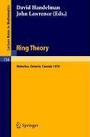 Ring Theory, Waterloo 1978