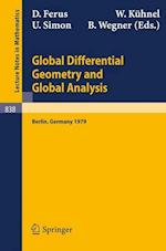 Global Differential Geometry and Global Analysis af B Wegner, Dirk Ferus, Udo Simon