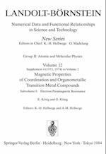 Electron Paramagnetic Resonance / Paramagnetische Elektronenresonanz (Landolt-Bornstein: Numerical Data and Functional Relationships in Science and Technology - New Series / Molecules and Radicals, nr. 12)