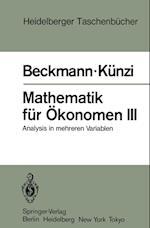 Mathematik Fur Okonomen III af M. J. Beckmann, H. P. Kunzi, Hans Paul Kunzi