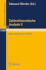 Zahlentheoretische Analysis II