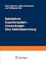 Betriebliche Expertensystem-Anwendungen af Peter Mertens