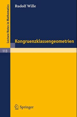 Kongruenzklassengeometrien af Rudolf Wille