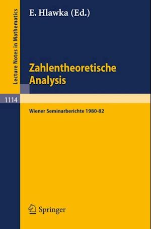 Zahlentheoretische Analysis