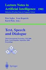 Text, Speech and Dialogue (Lecture Notes in Computer Science: Lecture Notes in Artificial Intelligence, nr. 1902)