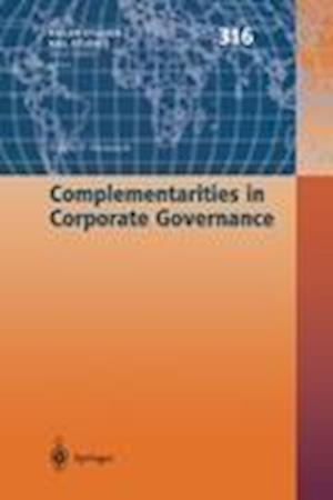 Complementarities in Corporate Governance