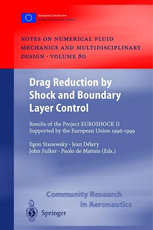 Drag Reduction by Shock and Boundary Layer Control : Results of the Project EUROSHOCK II. Supported by the European Union 1996-1999