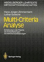 Multi-Criteria Analyse af Lothar Gutsche, Hans-Jurgen Zimmermann