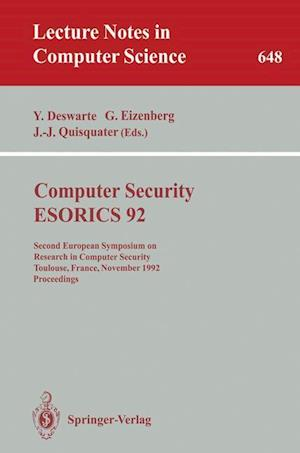 Computer Security - ESORICS 92 : Second European Symposium on Research in Computer Security, Toulouse, France, November 23-25, 1992. Proceedings