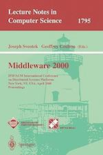Middleware 2000 (Lecture Notes in Computer Science, nr. 1795)
