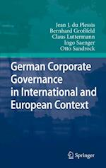 German Corporate Governance in International and European Context af Bernhard Grofeld