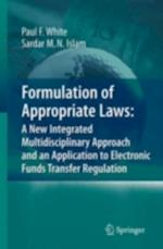 Formulation of Appropriate Laws
