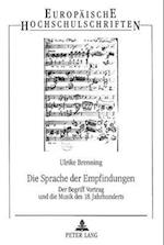 Die Sprache Der Empfindungen (European University Studies, Series II Law, nr. 176)