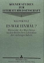 Es War Einmal? (Kolner Studien Zur Literaturwissenschaft, nr. 1)