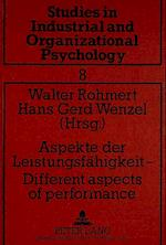 Aspekte Der Leistungsfaehigkeit -. Different Aspects of Performance