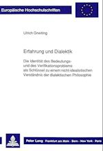 Erfahrung Und Dialektik (Europaeische Hochschulschriften European University Studie, nr. 312)