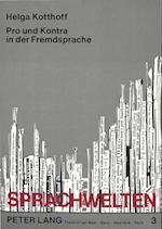 Pro Und Kontra in Der Fremdsprache af Helga Kotthoff