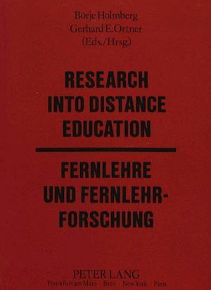 Research Into Distance Education / Fernlehre Und Fernlehrforschung
