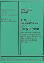 Rollenbewusstsein Und Subjektivitaet (Analysen Und Dokumente, nr. 29)