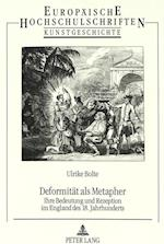 Deformitaet ALS Metapher (Europaeische Hochschulschriften European University Studie, nr. 187)